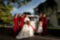 wedding car and bridesmaids in Hounslow