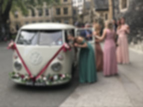 VW Wedding Car hire in London, pictured at Westminster Abbey.