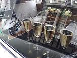 free champagne, unusual wedding car