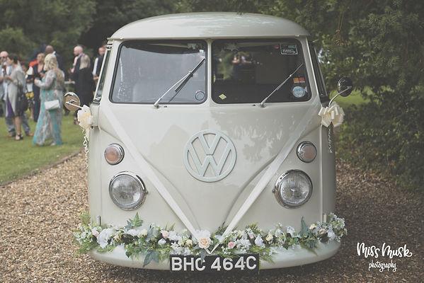 vw camper wedding car welling