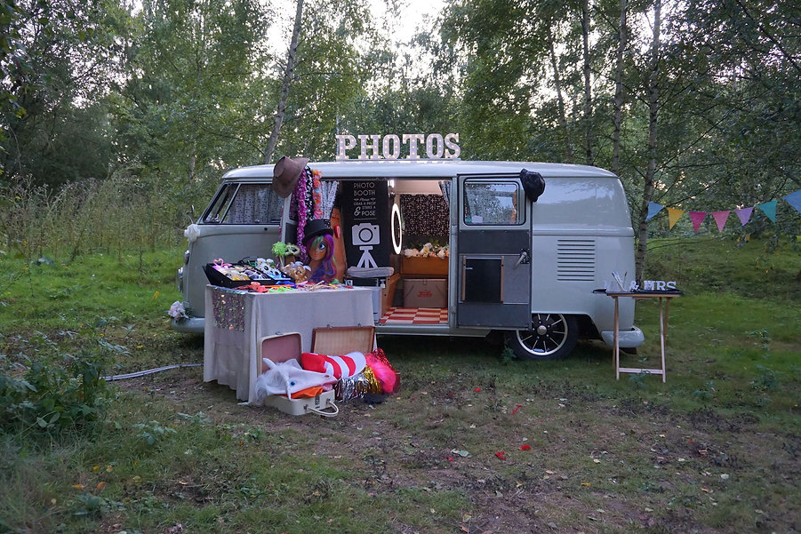 vw camper photo booth hire