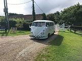 vintage wedding camper