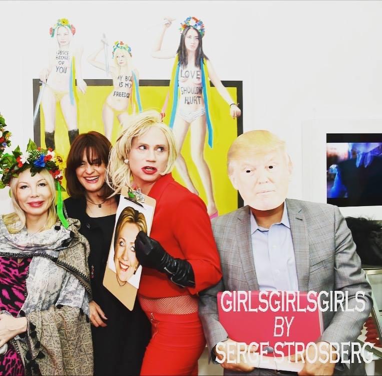 Olga, Marika, Mia, Serge in Mask