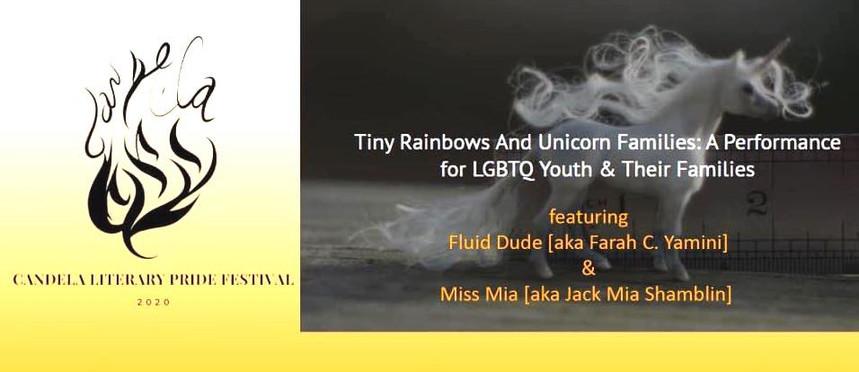 Flyer Tiny Rainbows and Unicorn Famlies
