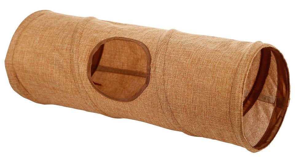 Tunnel en tissu brun CDI
