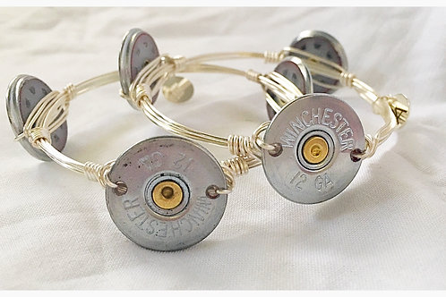 Shotgun Shell Silver JA Bangle