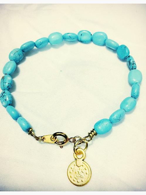Oval Turquoise Howlite JA Bracelet