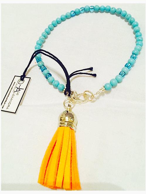 Turquoise TOHO Tassle JA Bracelet