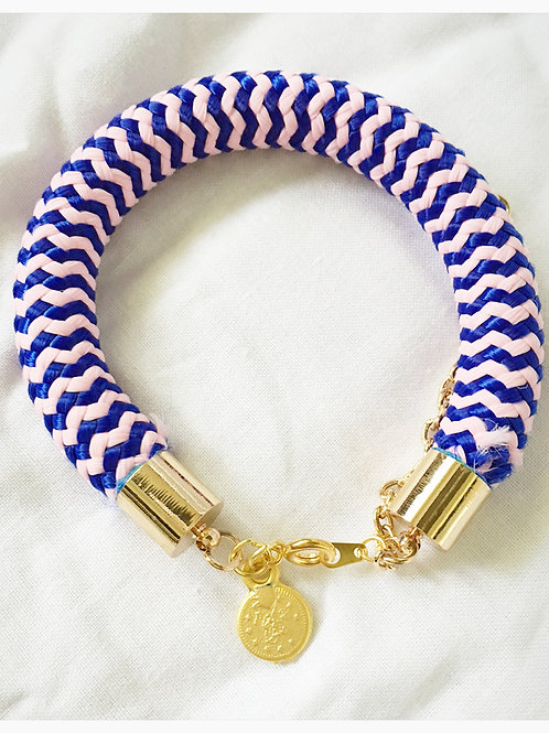 Navy and Pink JA Rope Collection Bracelet