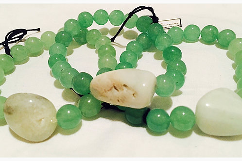 Aventurine Stone and Beads JA Bracelet
