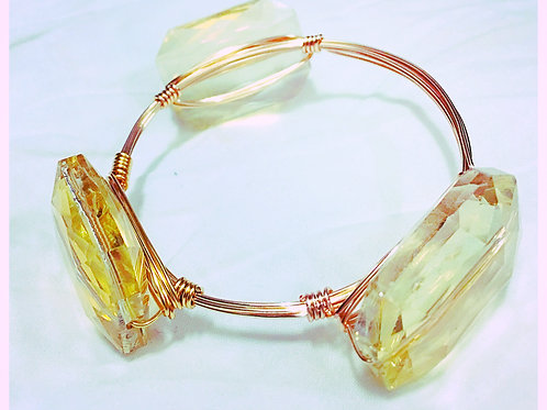 Simulated Citrine JA Bangle