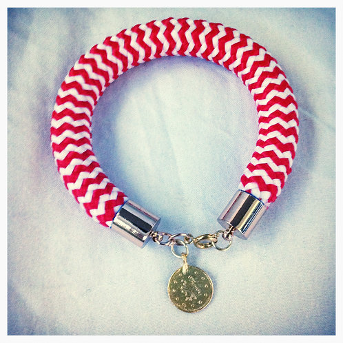 Red & White JA Rope Collection Bracelet