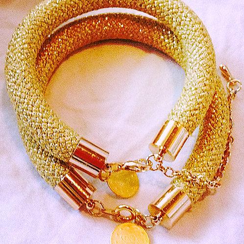 Gold JA Rope Collection Bracelet