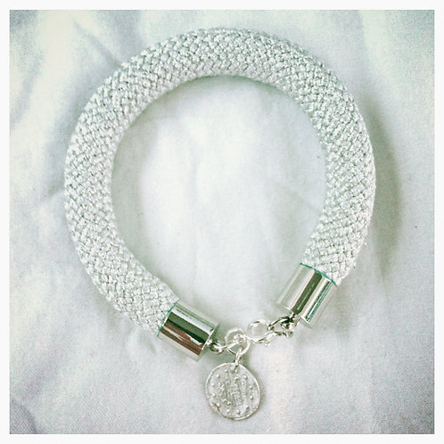 Silver JA Rope Collection Bracelet