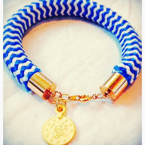 Blue & White JA Rope Collection Bracelet