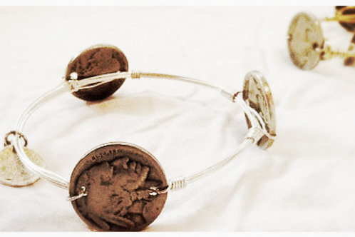 Authentic Buffalo Coin JA Bangle