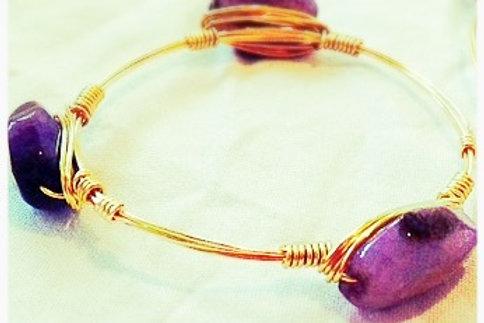 Purple Agate JA Bangle