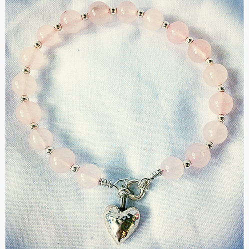 Pink Quartz Charm JA Bracelet