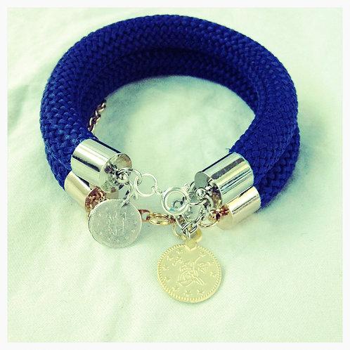 Navy JA Rope Collection Bracelet