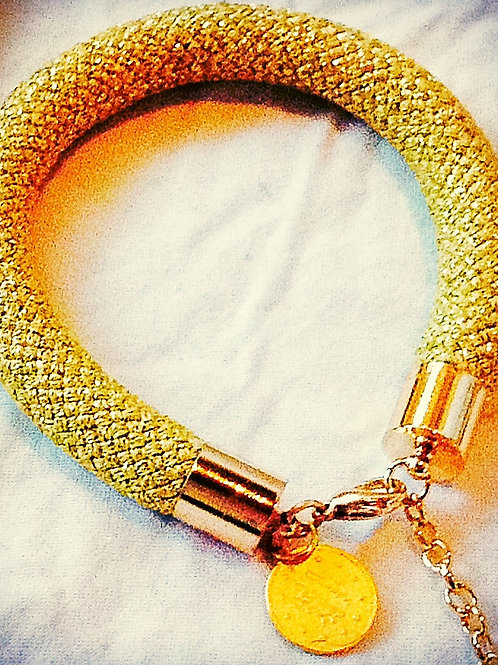 Gold JA Rope Collection Bracelet