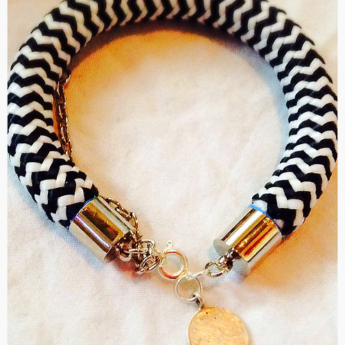 Black & White JA Rope Collection Bracelet