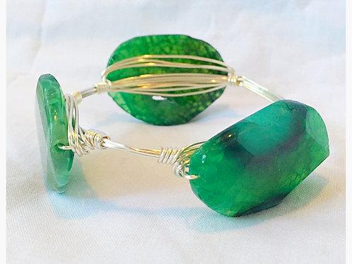 Beautiful Green Variated JA Bangle