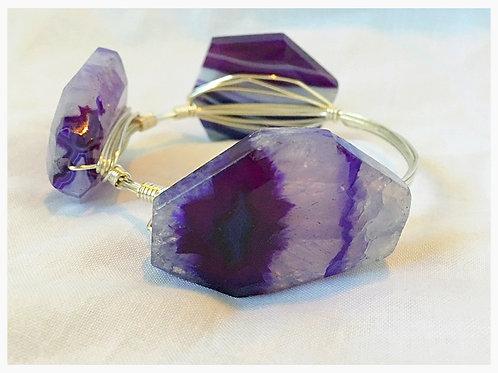 Beautiful Purple Variated JA Bangle