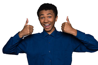 happy-afro-american-teen-showing-thumbs-