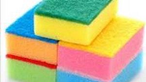 Scrub Sponge Wipe Powerful Colorful