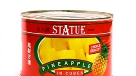 Pineapples Cubes in Syrup | Statue