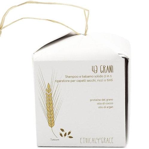 Shampoo 2in1 – Riparatore per capelli secchi, ricci o tinti –  43 Grani