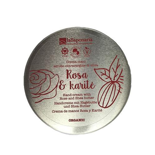 Crema mani Rosa e karité – Nutriente e rigenerante