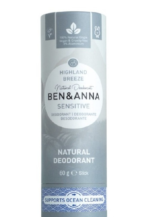 Deodorante pelle sensibile - Highland breeze