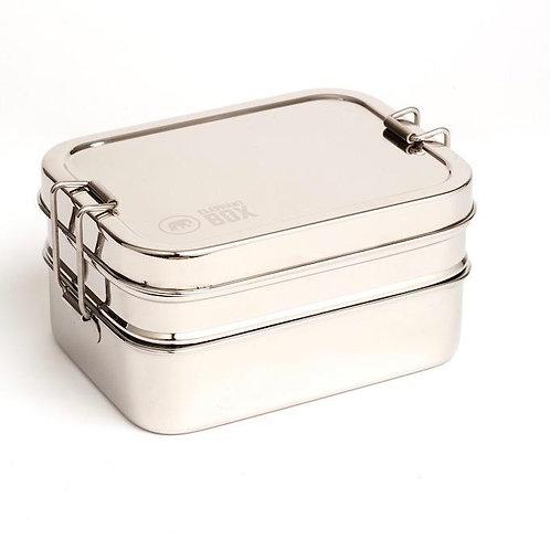 Porta pranzo 3 in 1 (doppio piano + contenitore interno)