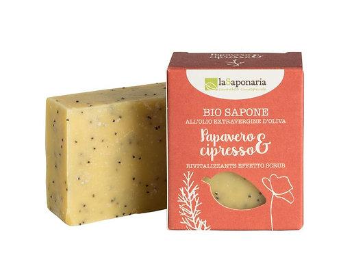 Sapone al Papavero e Cipresso – Rivitalizzante ed esfoliante