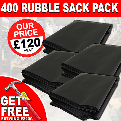 400 x Rubble Sack With Free Gift