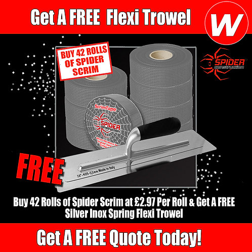 """Spider Scrim Tape Special with FREE 16"""" Trowel"""