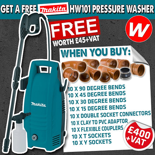 Drainage deal with Makita Pressure Washer Promotion