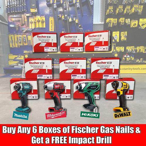 Gas Nails & Free Impact Drill