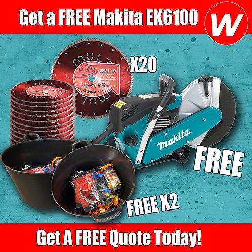 FREE Makita EK6100 & Diamond Blade Special
