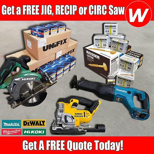 FREE Jig Recip or Circ Saw Screw Deal