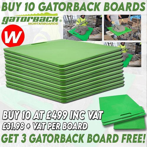 10 x Gator Board Special get 3 FREE