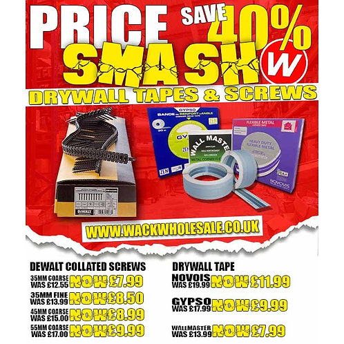 PRICE SMASH Save 40% on Drywall Collated & Corner Tapes