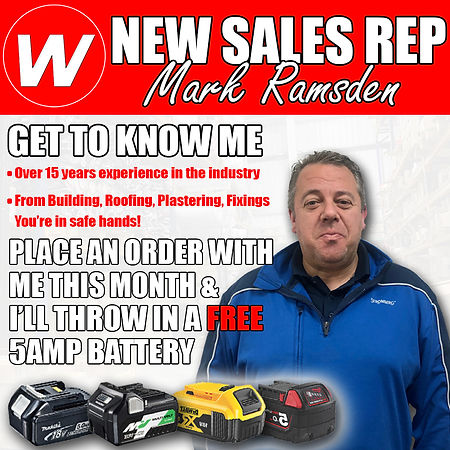 New area Rep Mark Ramsdenl Free Battery.