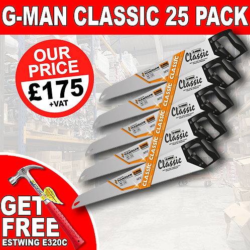 G-Man Classic Saw Pack With Free Gift