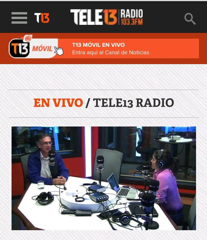 ENTREVISTA TELE13RADIO