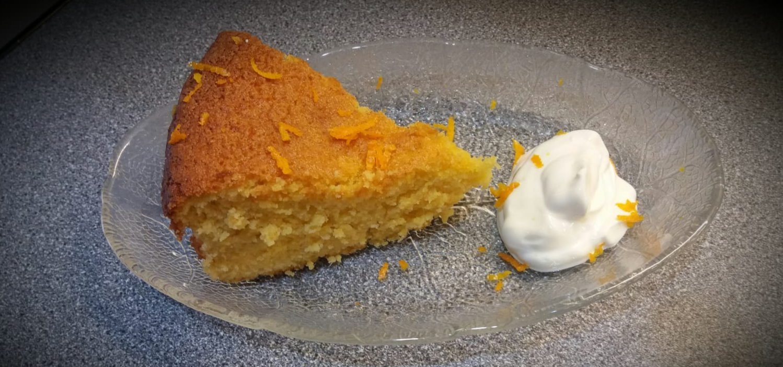 Homemade Orange & Almond cake