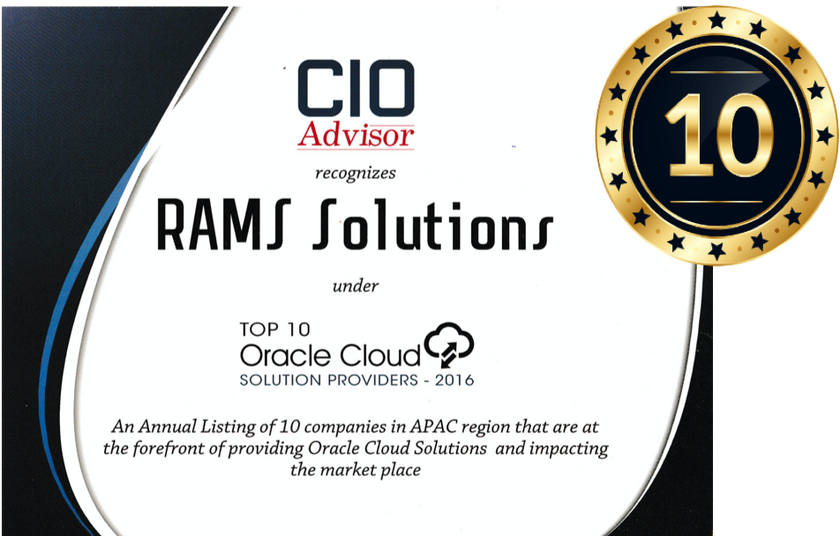 Top 10 Oracle Cloud Solutions Provider 2016