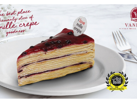 Craving for something sweet? Try Vanilla Mille Crepe today!