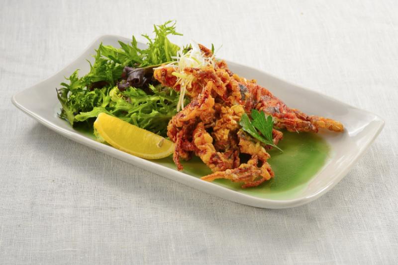Soft Shell Crab Goma Negi Sauce